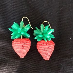 J Crew strawberry earrings
